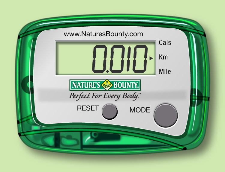 Nature's Bounty Pedometer Illustration